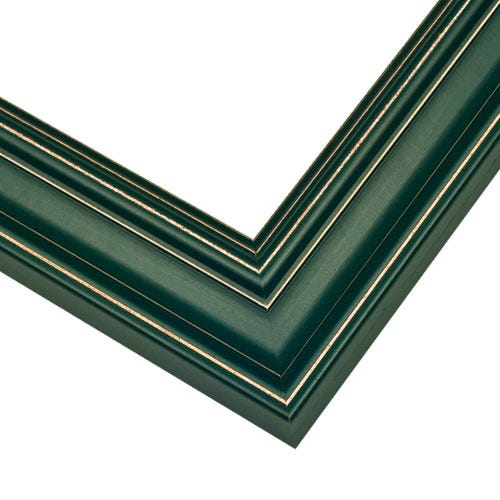 Green Picture Frame With Light Distressing Around Edges CUS5