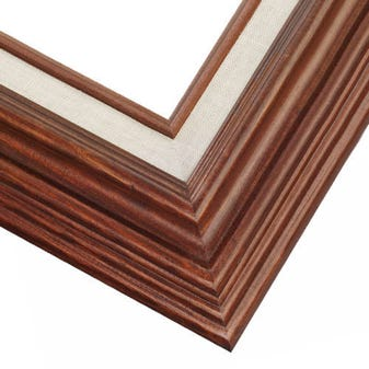 Rustic Maple Picture Frame With Warm FInish And Built-In Liner Liner