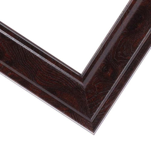 Reddish Brown Picture Frame With Smooth FInish And Wood Grain Design EWD6
