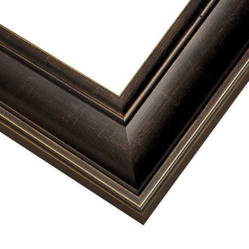 Espresso Picture Frame With Muted Gold Edges EXL2