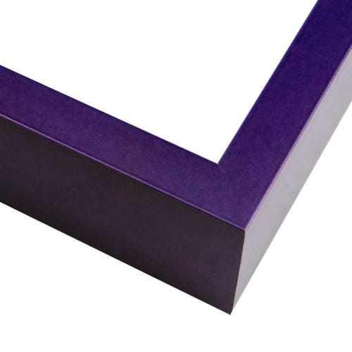 Modern Purple Metal Picture Frame With Crosshatching Surface FT16