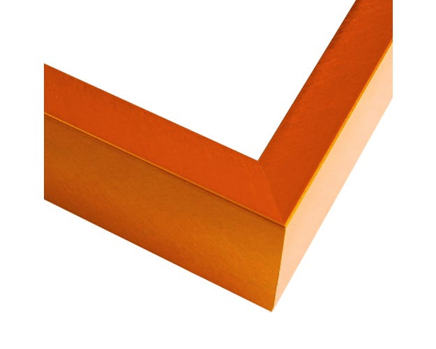 Modern Tangerine Metal Picture Frame With Crosshatching Surface FT17