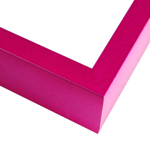 Modern Fuchsia Metal Picture Frame With Crosshatching Surface FT19