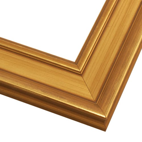 Gold Picture Frame With Brushed Gold Finish And Raised Edges GL7