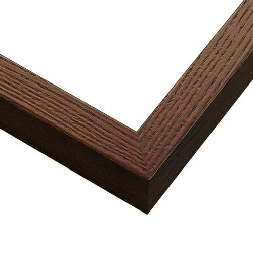 Walnut Picture Frame With Flat Profile and Wood Grain Texture GLD5