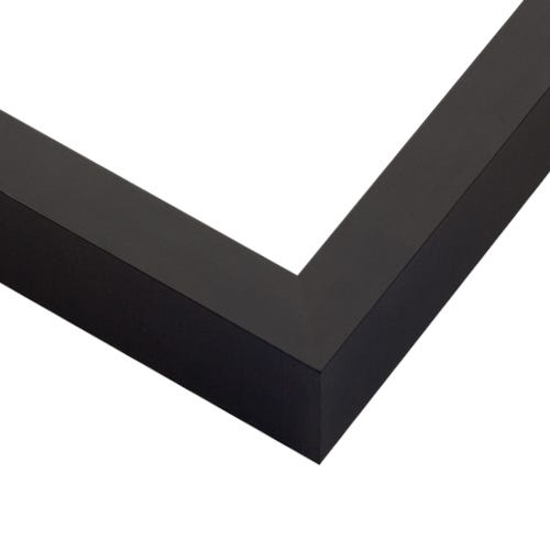 Modern Black Picture Frame With Satin Finish And Squared Profile GLE7