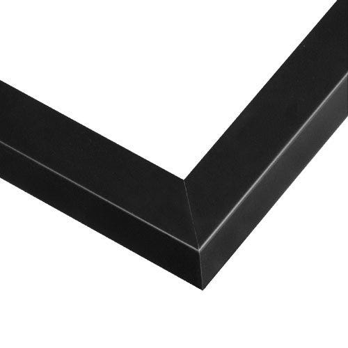Modern Black Picture Frame With Satin Finish And Squared Profile GLK7