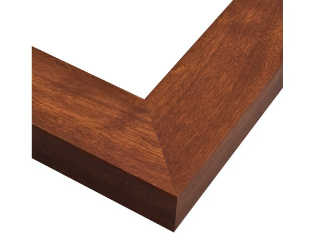 Walnut Picture Frame With Wood-Grain Design And Deep Flat Profile GO3