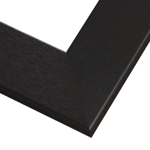 Black Wood Picture Frame With Brushed Finish And Wide Profile GOW10