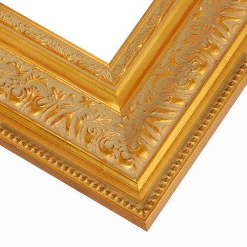 Ornate Gold Picture Frame With Relief Detail and Beading GT2