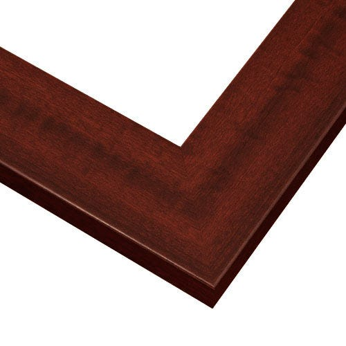 Red Mahogany Picture Frame With Wood Grain Design And Rounded Lip HPL3