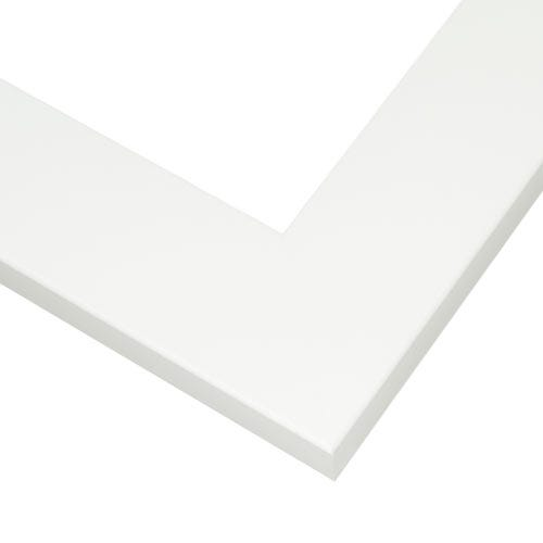 Modern White Picture Frame with Flat Face And Rounded Lip HPL9