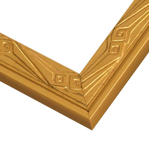 Gold Wood Picture Frame With Raised Art Deco Details JBA3