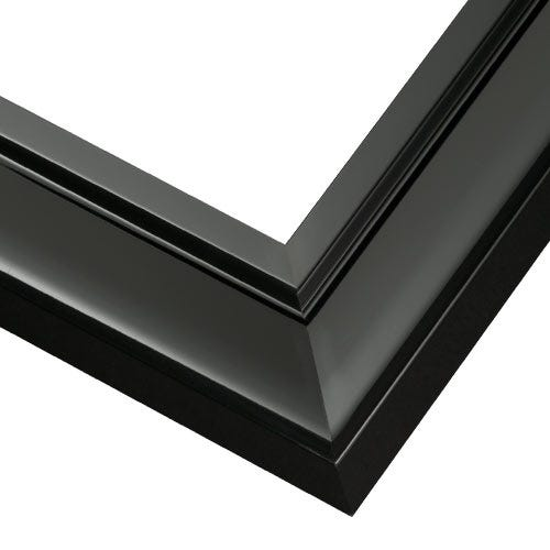 Modern Black Picture Frame With Glossy Black Finish JGL2