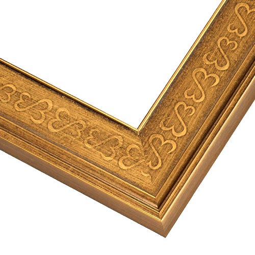 Antiqued Gold Picture Frame With Open Heart Design JHM2