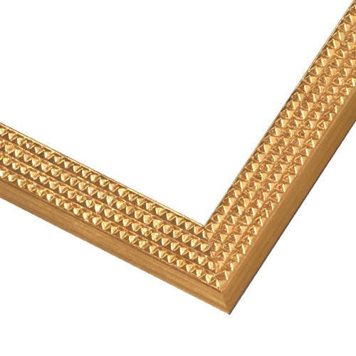 Contemporary Gold Wood Picture Frame with small studded texture JL1G