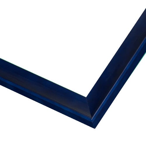 Deep Blue Wood Picture Frame With Navy Lacquer Finish JSS3