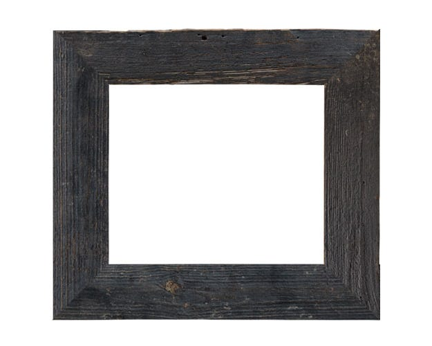 Rustic Weathered Black Wood Picture Frame