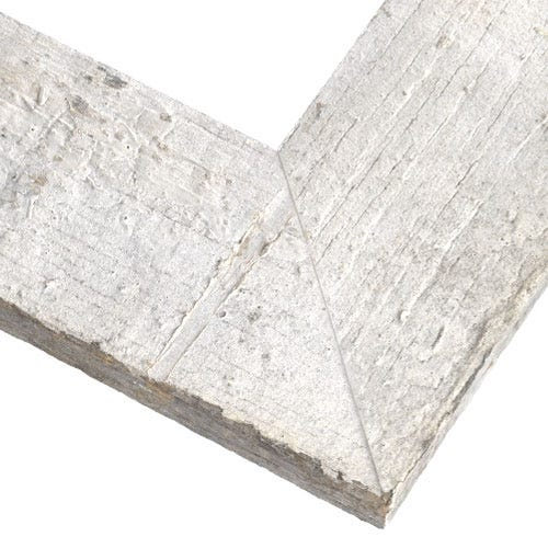 Rustic White Reclaimed Wood Picture Frame With Natural Weathering KBL5