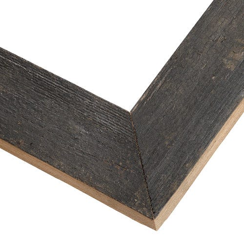 Rustic Black Frame With Fresh-Sawn Sides And Natural Weathering KBM4