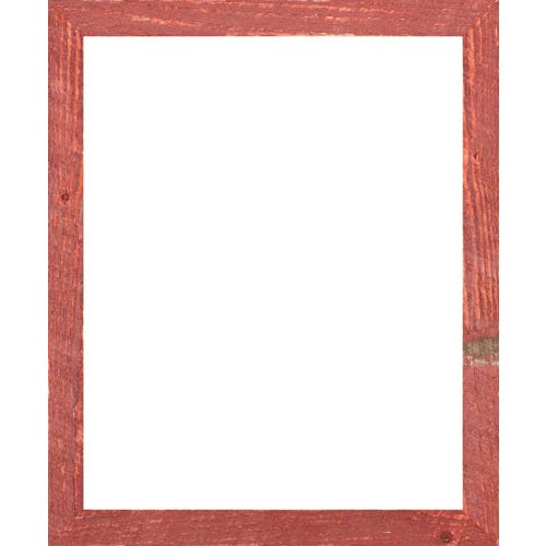 Weathered Red Barn Wood Picture Frame