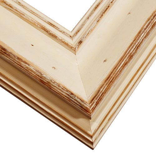 Rustic Sandstone Frame With Natural Wood Grain And Weathering MOL3