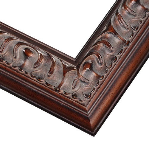 Espresso Wood Picture Frame With Raised Relief Details and Patina Wash MQ17