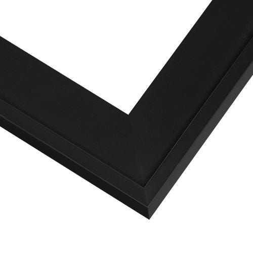 Classic Black Wood Picture Frame With Satin Finish And Raised Outer Edge NY5