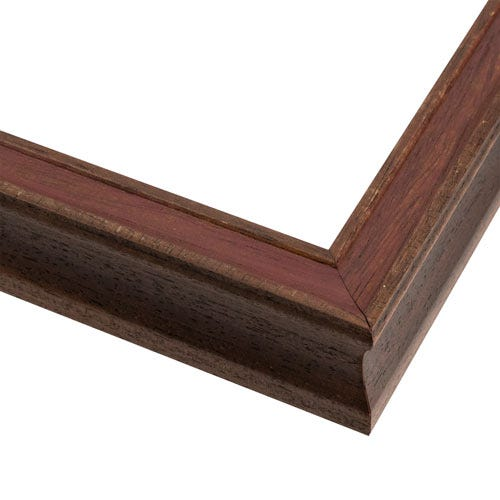 Reddish Brown Picture Frame With Thin Profile And Wood Grain Weathering OLC7