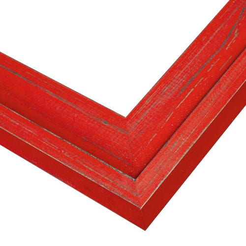 Bright Red Plein Air Picture Frame With Raised Edges PAC3
