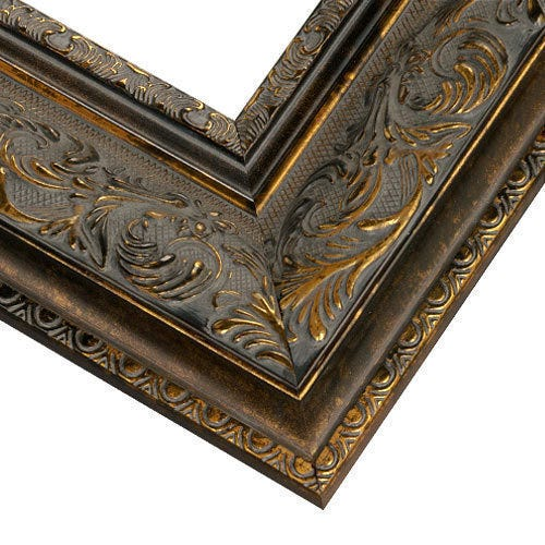 Ornate Gold And Bronze Accented Picture Frame with Espresso FInish PAZ3