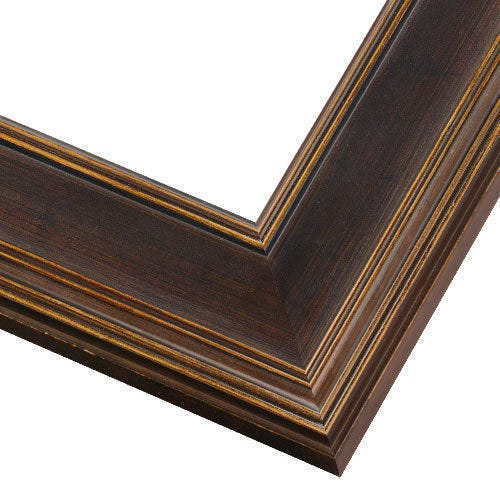 Espresso Plein Air Picture Frame With Hints of Gold PEM5