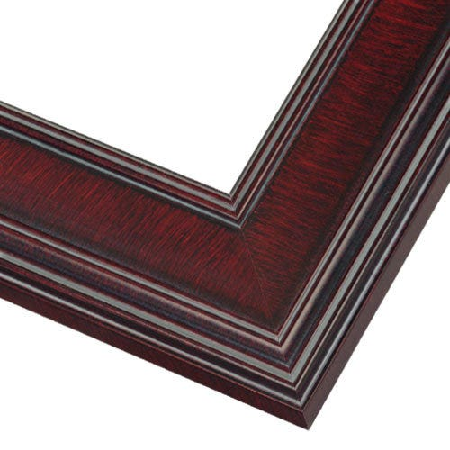 Rich Mahogany Finished Picture Frame With Broad Flat Face PEM6
