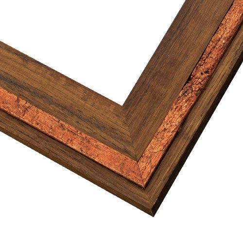 Reclaimed Oak Picture Frame With Copper Finished Oak Inlay LE7