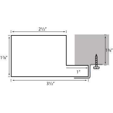 Natural Wood Canvas Floater Frame RLE9 Profile Diagram Drawing
