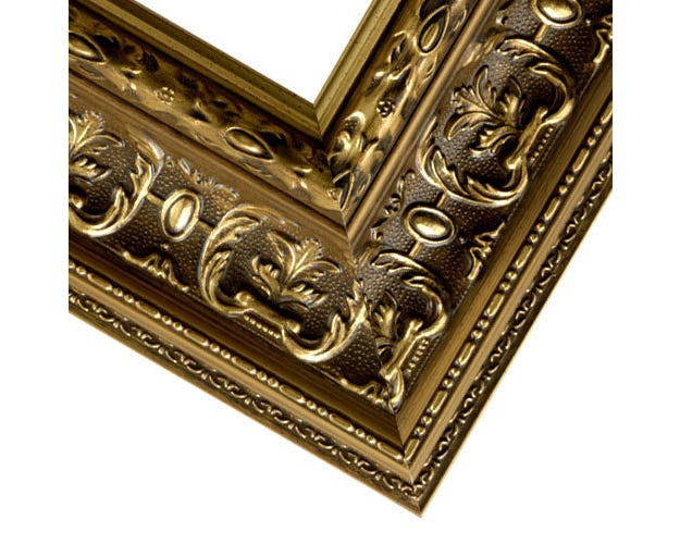 Ornate Gold Picture Frame With Gold Finish And Patina Wash RR2
