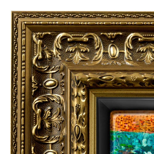 Gold Ornate Renaissance Era Canvas Floater Frame RRF2