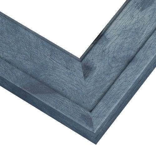 Weathered Blue Barnwood Frame With Weathered Wood Grain Design RSP6