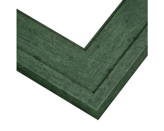 Weathered Green Barnwood Frame With Weathered Wood Grain Design RSP7