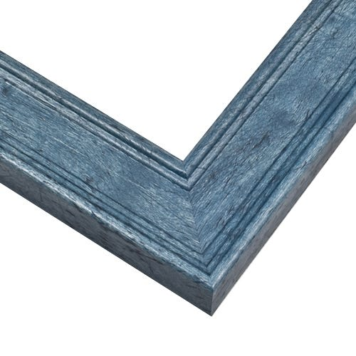 Weathered Blue Wood Picture Frame with Wood Grain Design RST6
