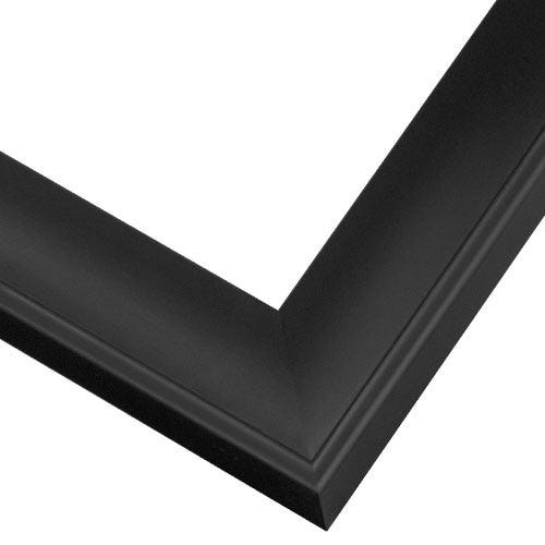 Black Scoop Profile Wood Picture Frame With Satin Finish SA2