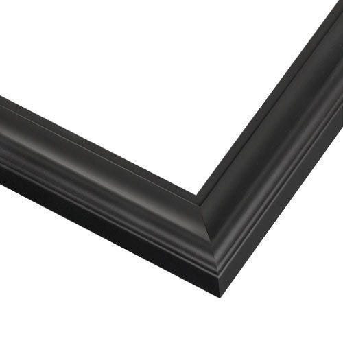 Modern Black Wood Picture Frame With Satin Finish SA6