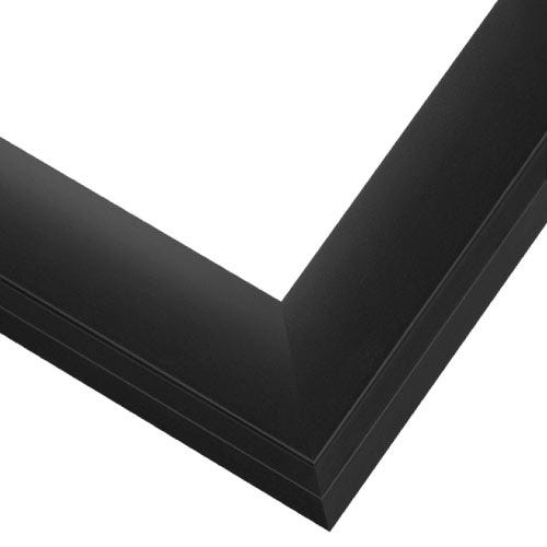 Modern Black Wood Picture Frame With Satin Finish SA9