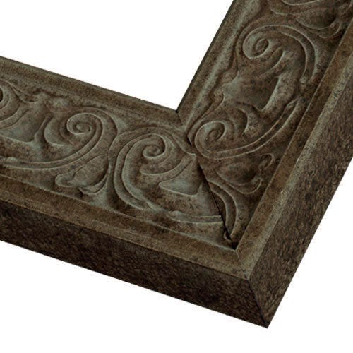 Grey Wood Picture Frame with Soft Grey Finish and Raised Details SG13