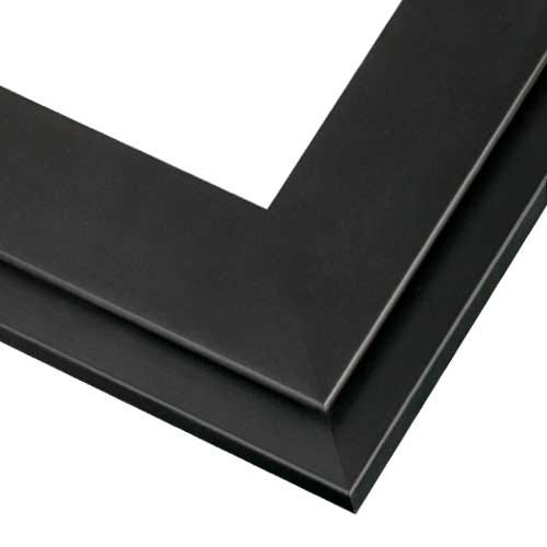 Contemporary Black Wood Picture Frame With with Two Tiered Profile SH12