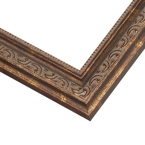 Ornate Copper Wood Picture Frame SL11