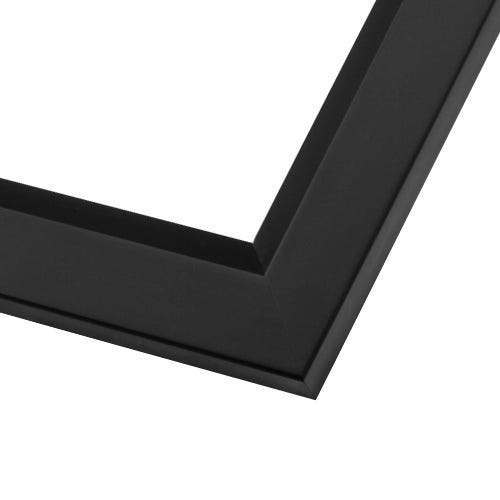 Modern Black Picture Frame With Angled Inner Lip and Satin Finish SLW20