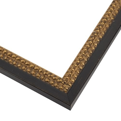 Double Gold With Black Beaded Picture Frame SLW73