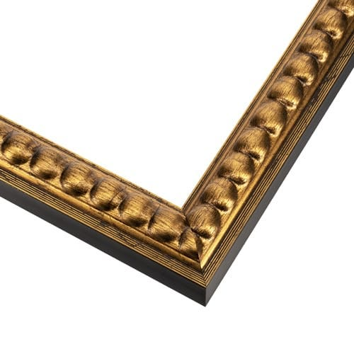 Beaded Antique Gold Slim Picture Frame SLW74