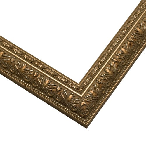 Antiqued Gold Wood Picture Frame With Ornate Details SLW8